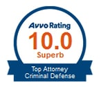 Avvo Rating: Top Attorney in Criminal Defense